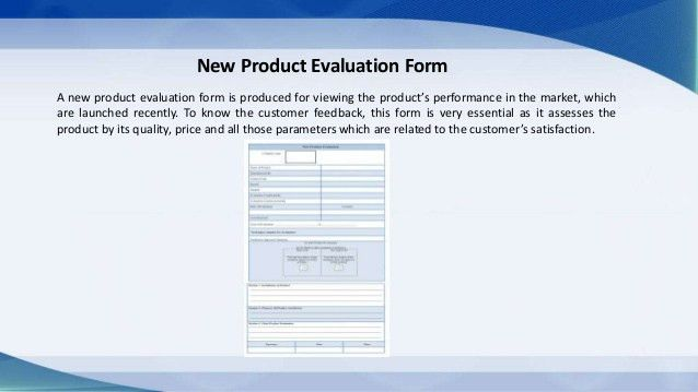Evaluation Form Sample and Templates