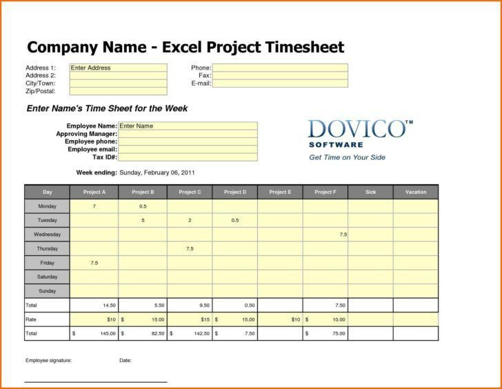 Daily Timesheet Template Excel | HAISUME