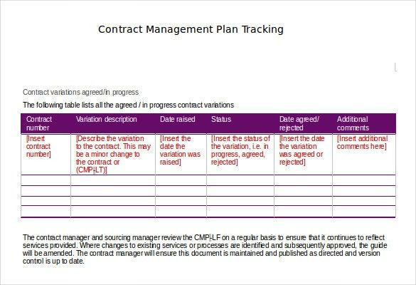 Contract Tracking Template – 10+ Free Word, Excel, PDF Documents ...