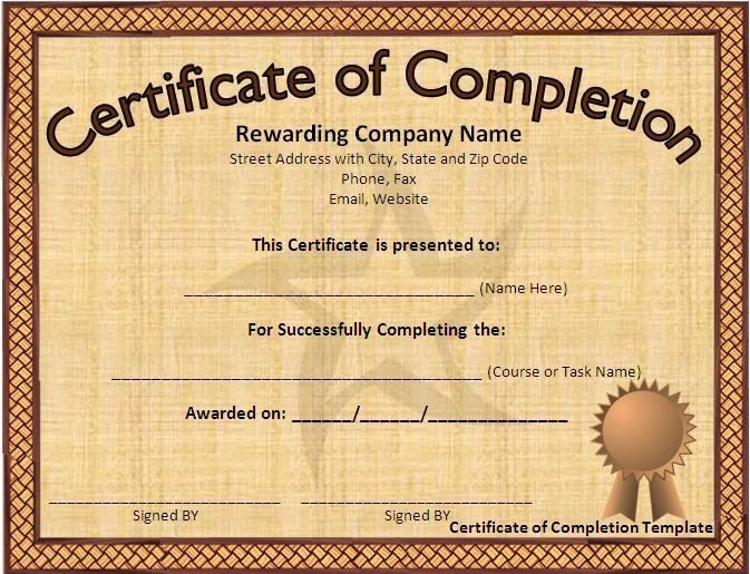 The 25+ best Certificate of completion template ideas on Pinterest ...