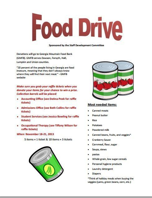 Food Drive Flyer Template | Template Design