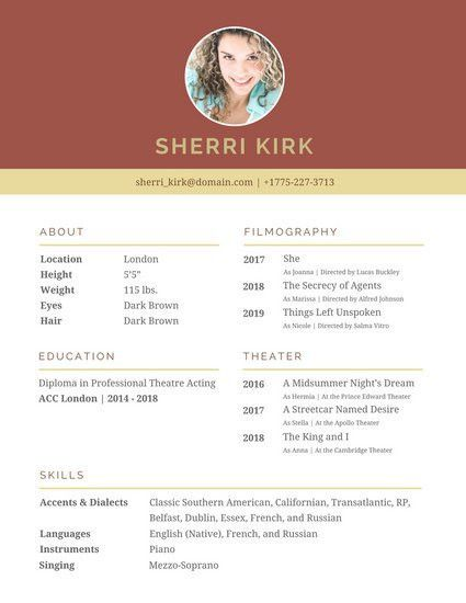 Awesome How To Acting Resume Gallery - Simple resume Office ...