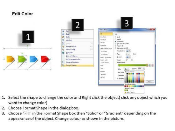 4 Linear Arrows Free Flowchart Template PowerPoint Templates ...