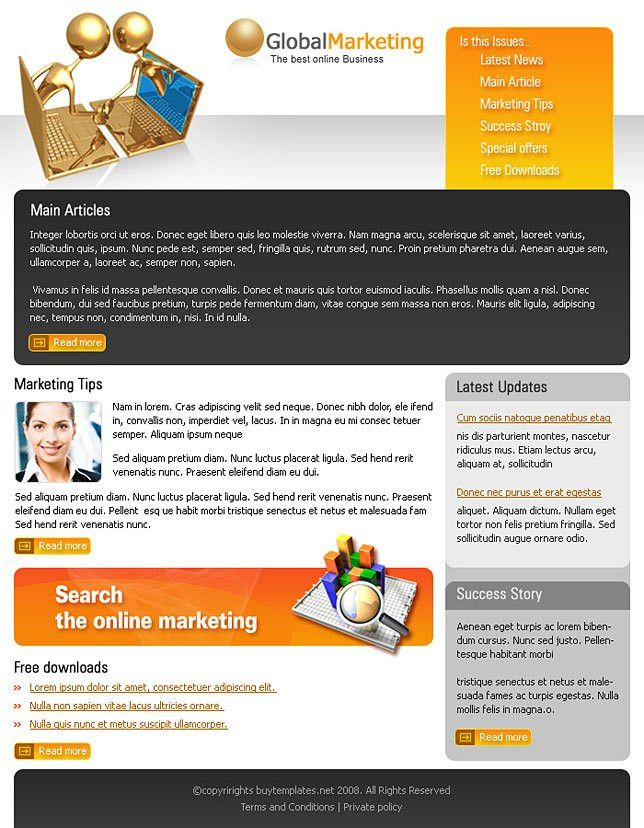 Sample newsletter templates for global marketing