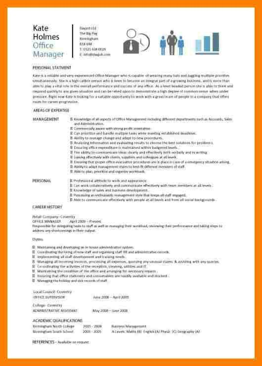 Office Manager Resume Template. Cv For Office Manager Pic Office ...