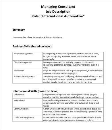 Management Consultant Job Description. Administrative Assistant ...