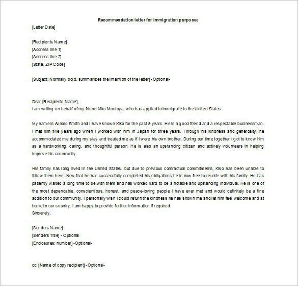 Recommendation Letter Format Samples. Reference Letter Template ...