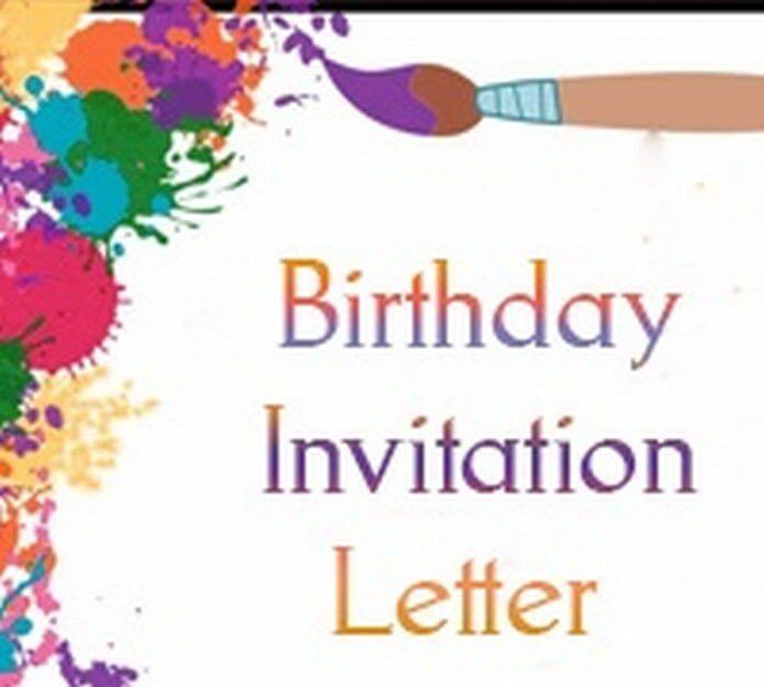 Birthday Invitation Letter, Sample Party Invitation Letter