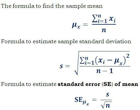 Calculate Standard Deviation from Standard Error