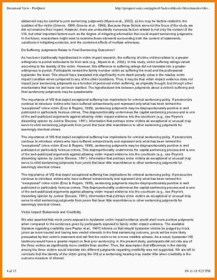 10+ sample victim impact statement | Statement Information