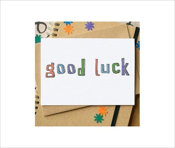 Good Luck Card Template - 21+ Free Printable Sample, Example ...