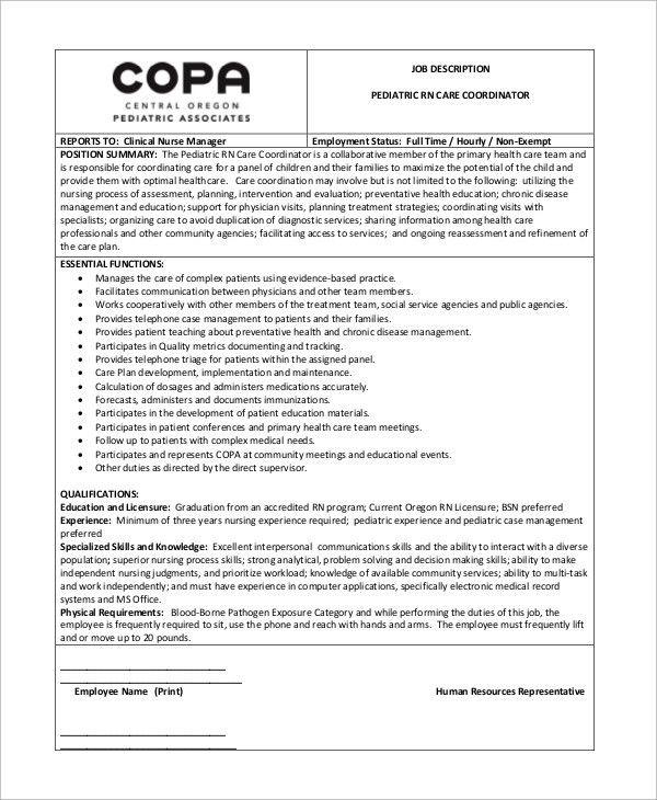 Pediatrician Job Description. Pediatrician-Coordinator-Job ...