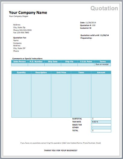 Computer Purchase Quotation Template | Free Quotation Templates