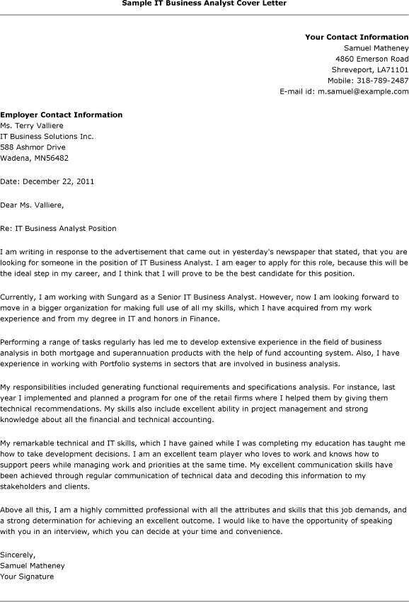 data analyst cover letter data analyst cover letter 2. business ...