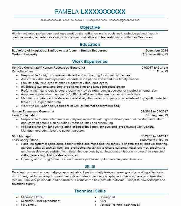 Customer care coordinator resume