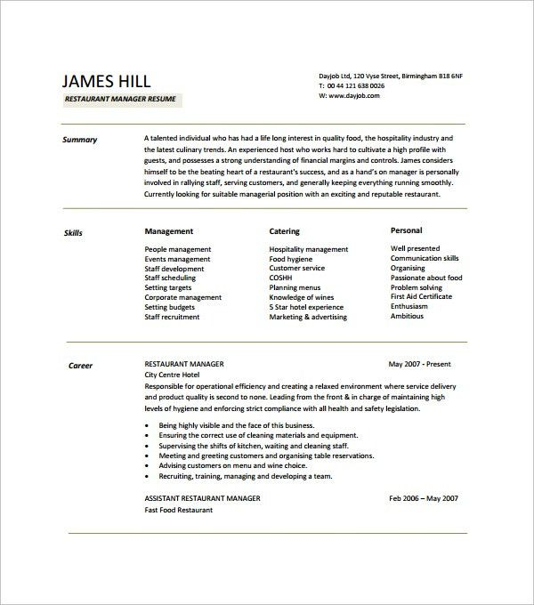 Sample Resume Template - 53+ Download in PSD, PDF, Word