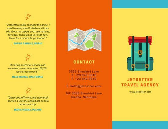 Colorful Travel Agency Brochure - Templates by Canva
