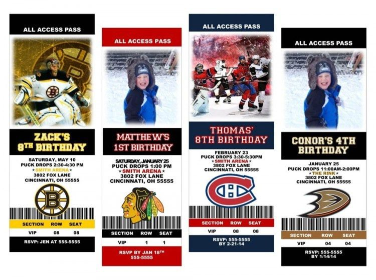 Hockey Birthday Party Invitations | cimvitation