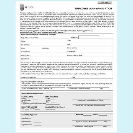 Loan Application Form Templates - 5 Best Samples and Formats
