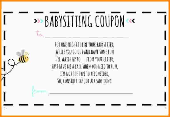 3+ babysitting coupon template | nypd resume