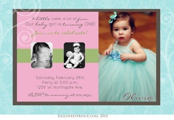 First Birthday Invitations Girl | Card Invitation Templates