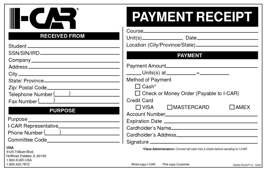Customer Receipt Form Sample for Cash Payment by prl18820 : Helloalive