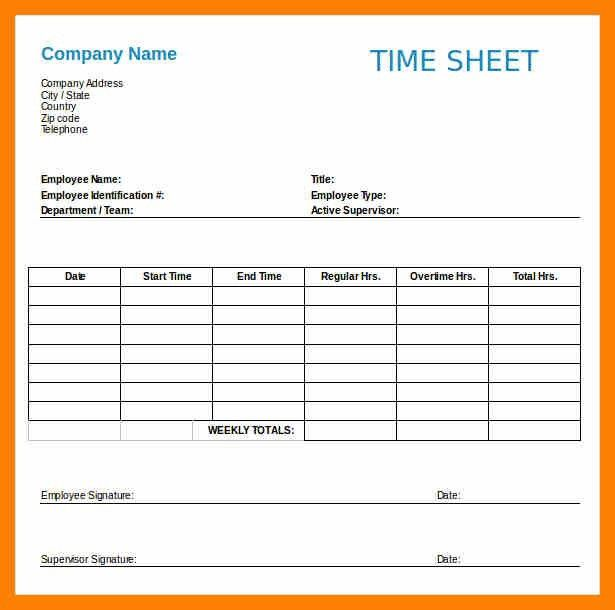 5+ employee timesheet template | attendance sheet