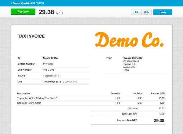 Xero Invoice Templates Free | free printable invoice