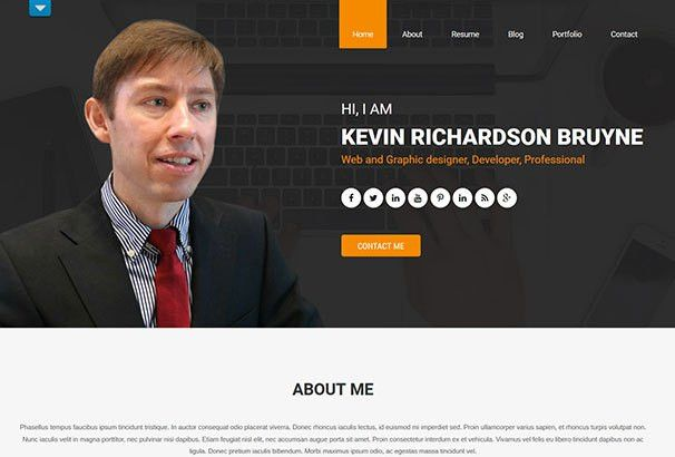 curriculum vitae website template resume website template resume ...