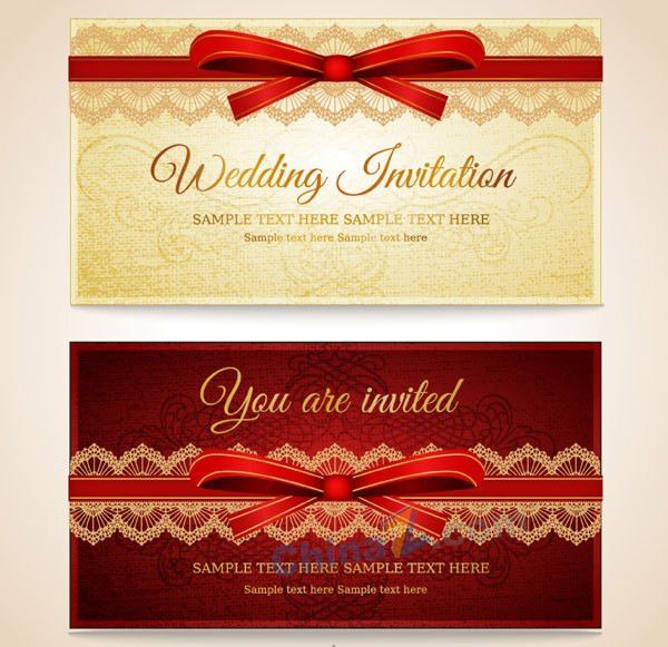 Wedding invitation card vector template | Free VECTOR GRAPHIC ...