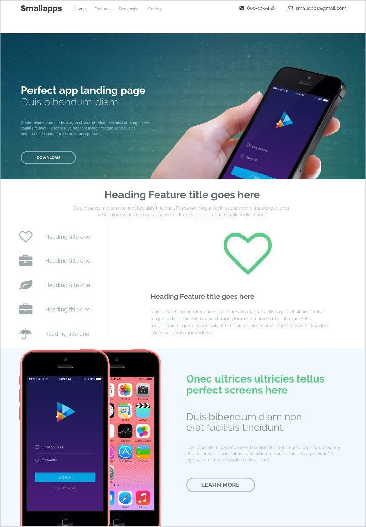 15+ Free Landing page Themes & Template - Product, App, Mobile ...
