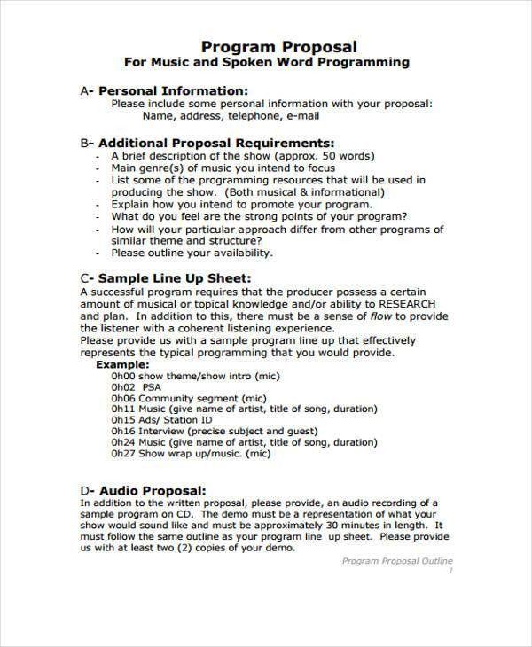 Program Proposal. 16 School Waiting Lists Program Proposal ...