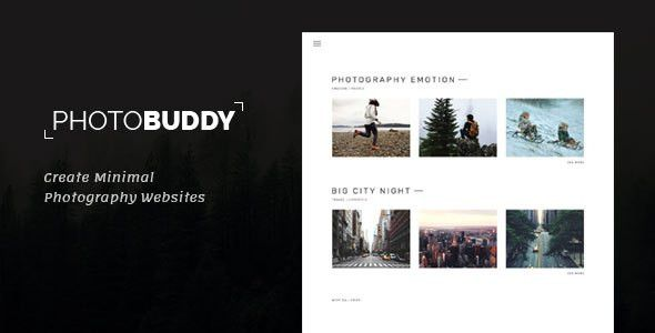 PhotoBuddy - Photography, Portfolio, Gallery, Minimal HTML ...