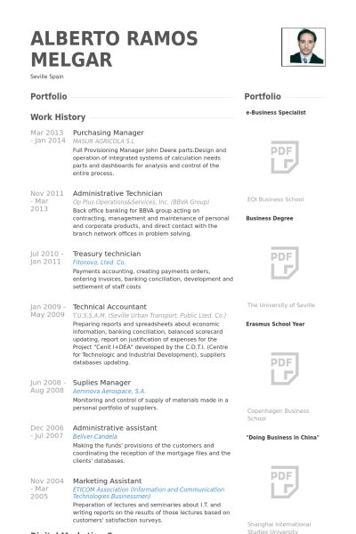 Purchasing Manager Resume samples - VisualCV resume samples database