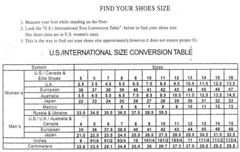 Size Charts by Brand from Lingerie Diva