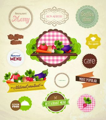 Fresh food labels design vector 03 – Over millions vectors, stock ...