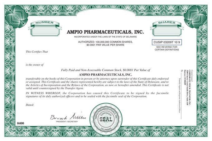 Specimen Common Stock Certificate of the Registrant