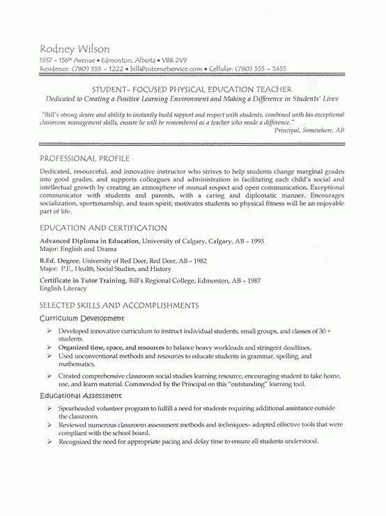 English Teacher Job Description [Template.billybullock.us ]