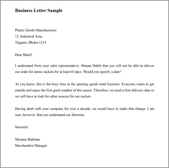 Best Ideas of How To Write A Business Letter Opening For Your ...