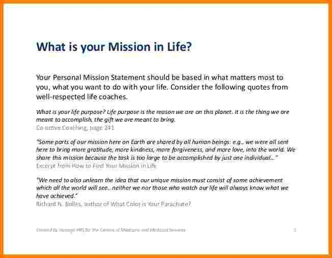 9+ examples of personal mission statements | Case Statement 2017