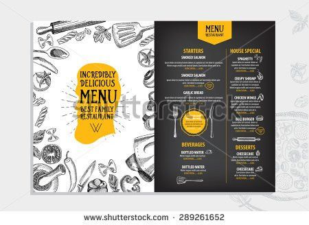Restaurant Brochure Vector Menu Design Vector Stock Vector ...