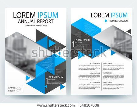 Blue Annual Report Brochure Flyer Design Stock Vector 398925199 ...