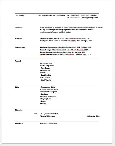 resume examples monster model finance template templates pics