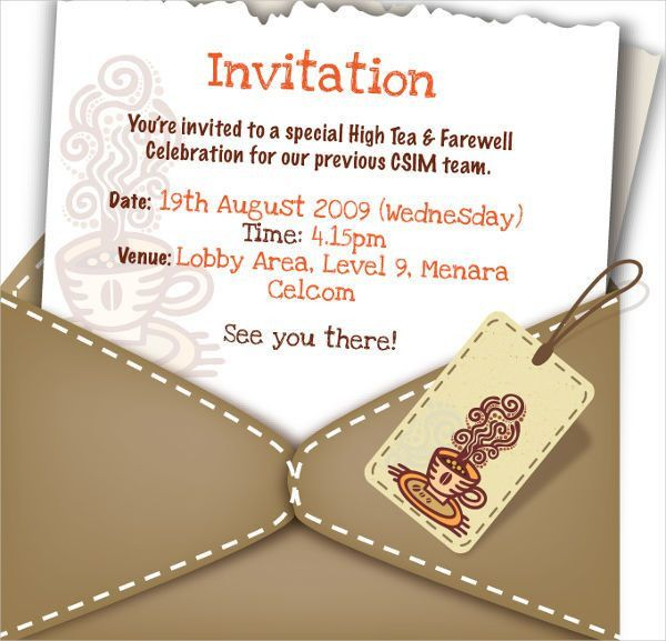 10+ Farewell Invitation Templates - Free Sample, Example, Format ...