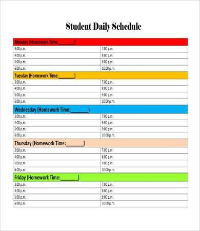 Daily Schedule Template Printable - 9+ Free Word, PDF Documents ...