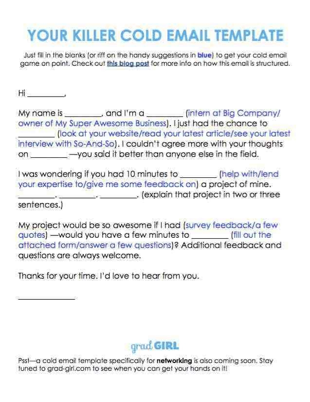 How to Write a Killer Cold Email | Grad Girl