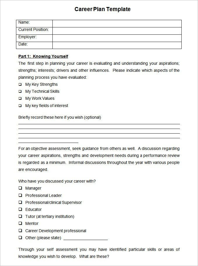 Career Plan Template - 16 Free Word, PDF Documents Download | Free ...