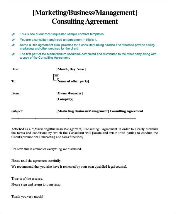 Consulting Service Agreement. Sample Consulting Agreement Contract .