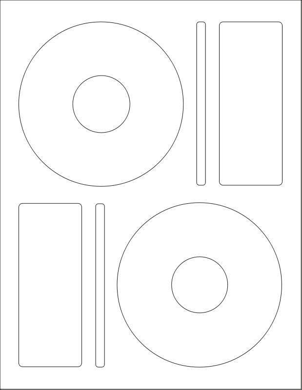 Free Clipart: WL-5025 CD Label Template | worldlabel | Creative ...