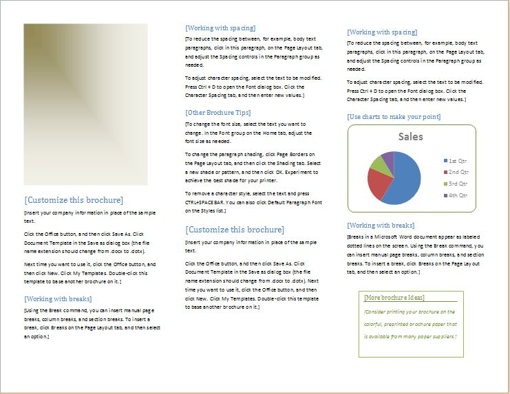 Sales Promotion Brochure Template for WORD   Document Hub